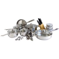 31-Piece Freedom Gourmet Cookware Stainless Steel Kitchen Cooking Set