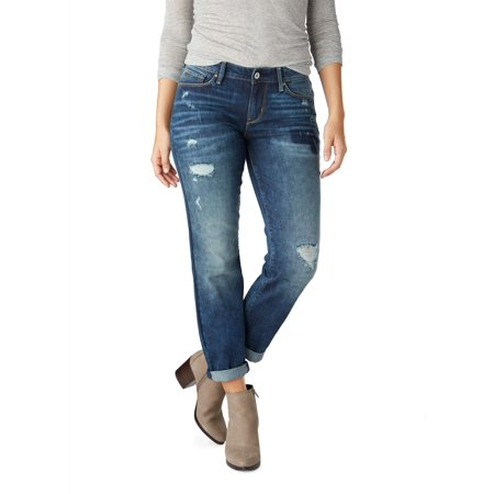 Womens Light Blue Jeans - Signature by Levi Strauss & Co. Women's Modern Slim Cuffed Jean