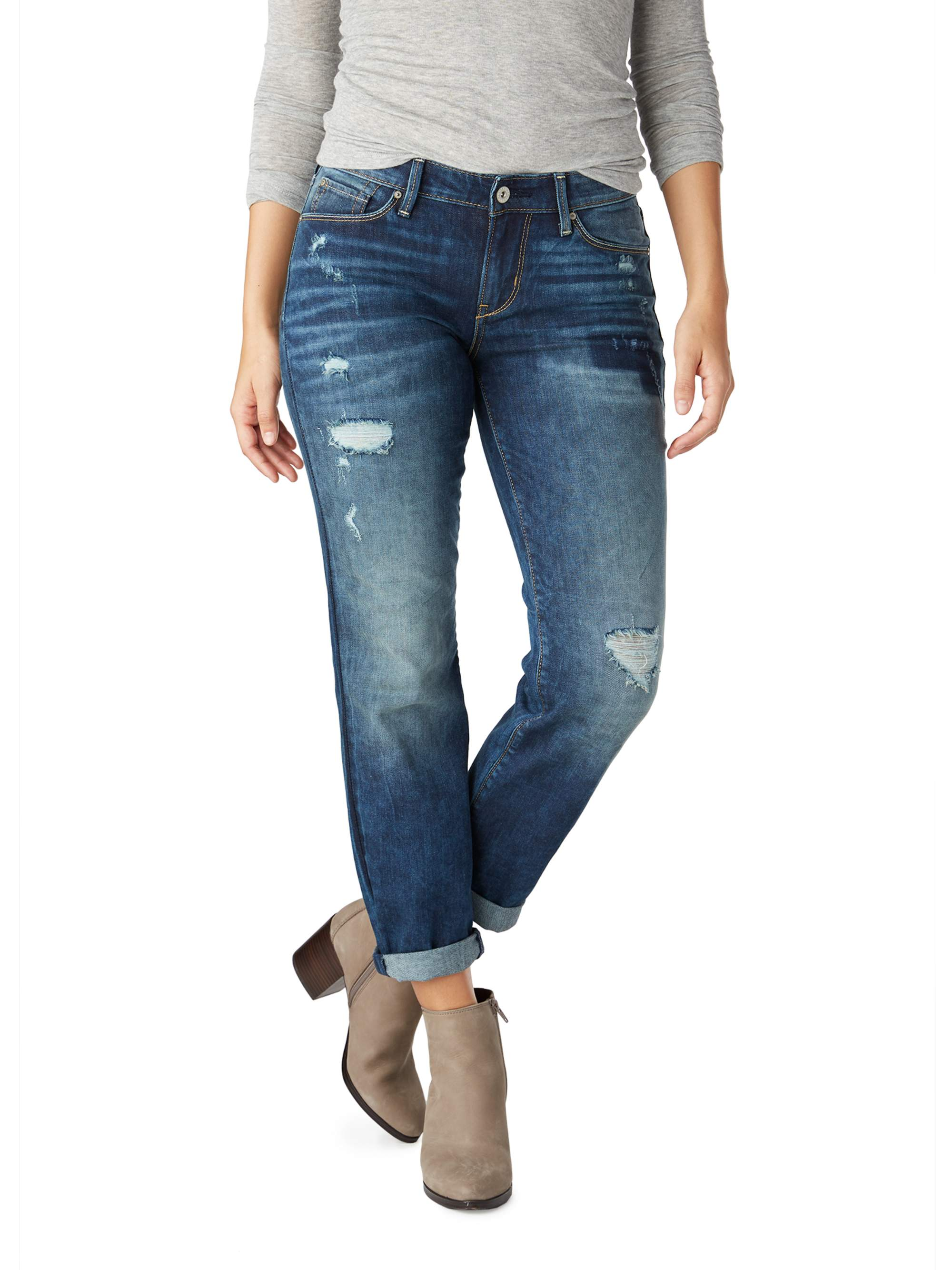 Signature by Levi Strauss & Co. Women's Modern Slim Cuffed Jean