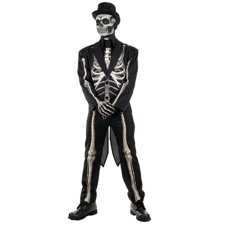Bone Chillin Mens Voodoo Witch Doctor Skeleton Suit Halloween - Halloween Bone Collector