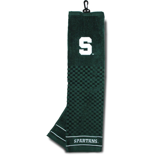 Team Golf NCAA Michigan State Embroidered Golf Towel by Generic