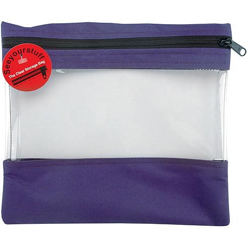 Lyle 84454 Seeyourstuff Clear Storage Bags 12 inch x 13 inch -Purple