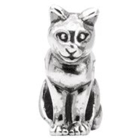 Kera Sterling Silver Cat Slider Bead