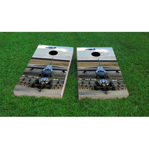Custom Cornhole Boards Aircraft Artillery Cornhole Game (Set of 2) by Custom Cornhole Boards