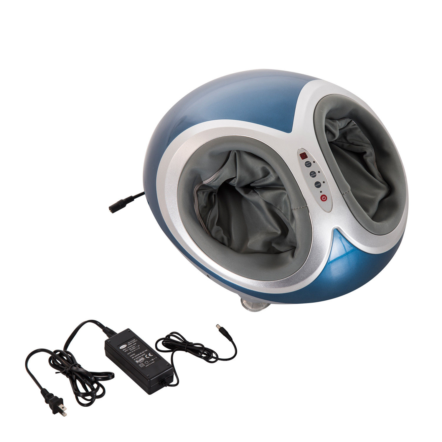 HOMCOM Personal Heated Multi Function Dual Foot Massager With Remote Control - Blue