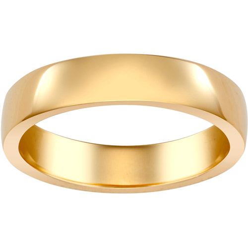Gold-Tone Low-Dome Wedding Band, 4.5mm
