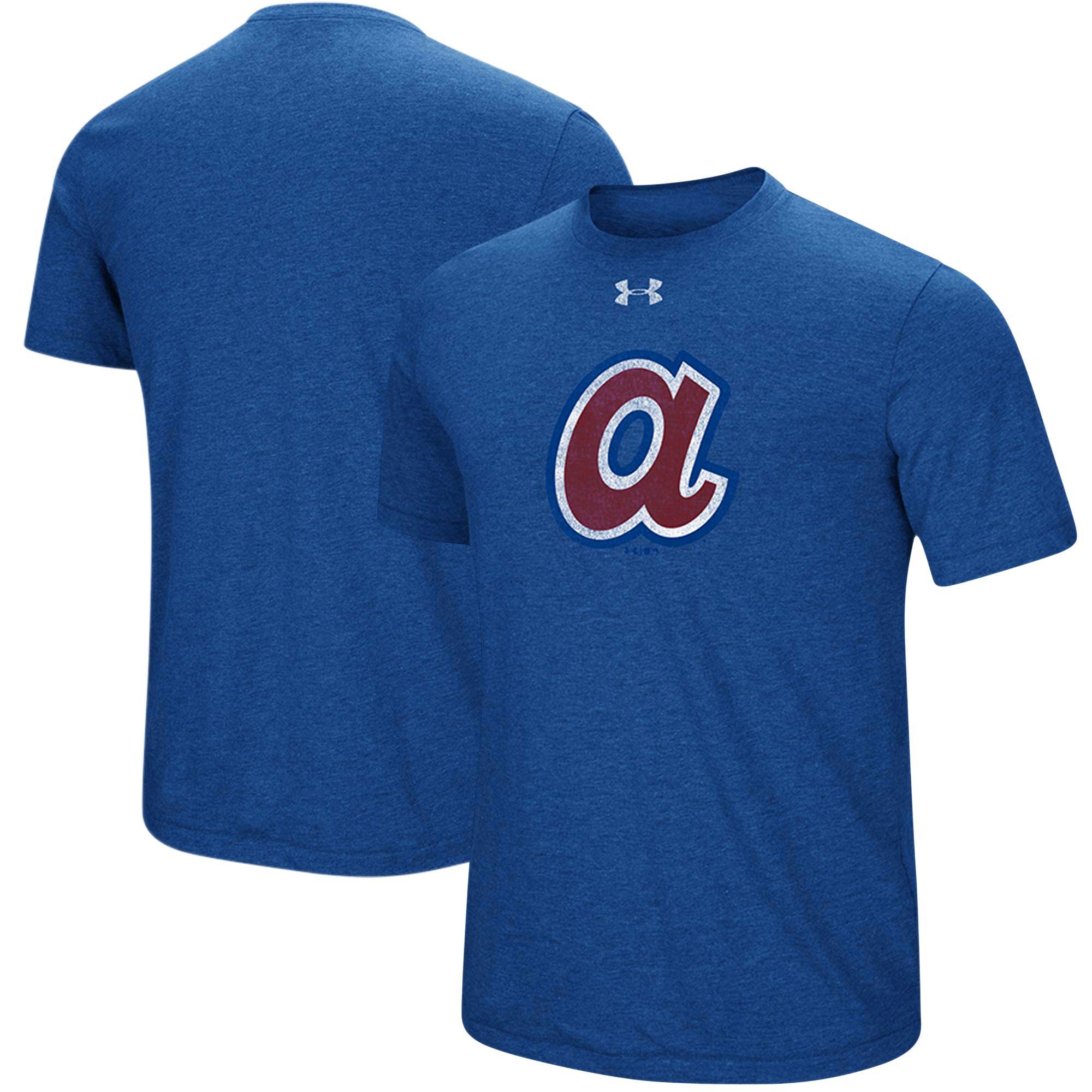 Atlanta Braves Under Armour Cooperstown Collection Mark Performance Tri-Blend T-Shirt - Heathered Royal