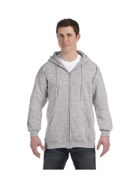 Hanes Men's Light Steel Full-Zipper Hoodie, Style F280