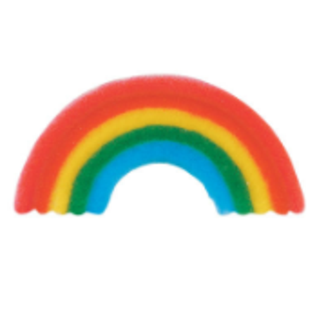 Set of 12 Primary Rainbow 1 5/8inch Edible Sugar Cake & Cupcake Decoration Toppers