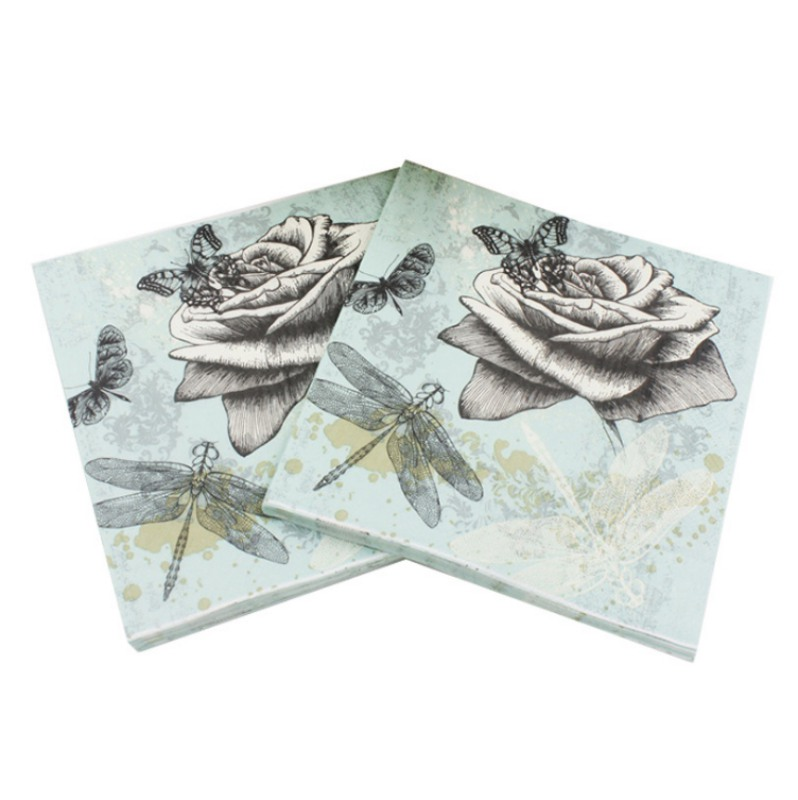 100 Pack Decorative Napkins Floral Print Disposable Paper Party Napkins Soft And Absorbent For Luncheon Dinner And Celebration Walmart Com Walmart Com