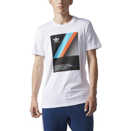 45805d76 Adidas - Adidas VHS BLOCK TEE mens athletic-shirts BJ8682 - WHITE ...