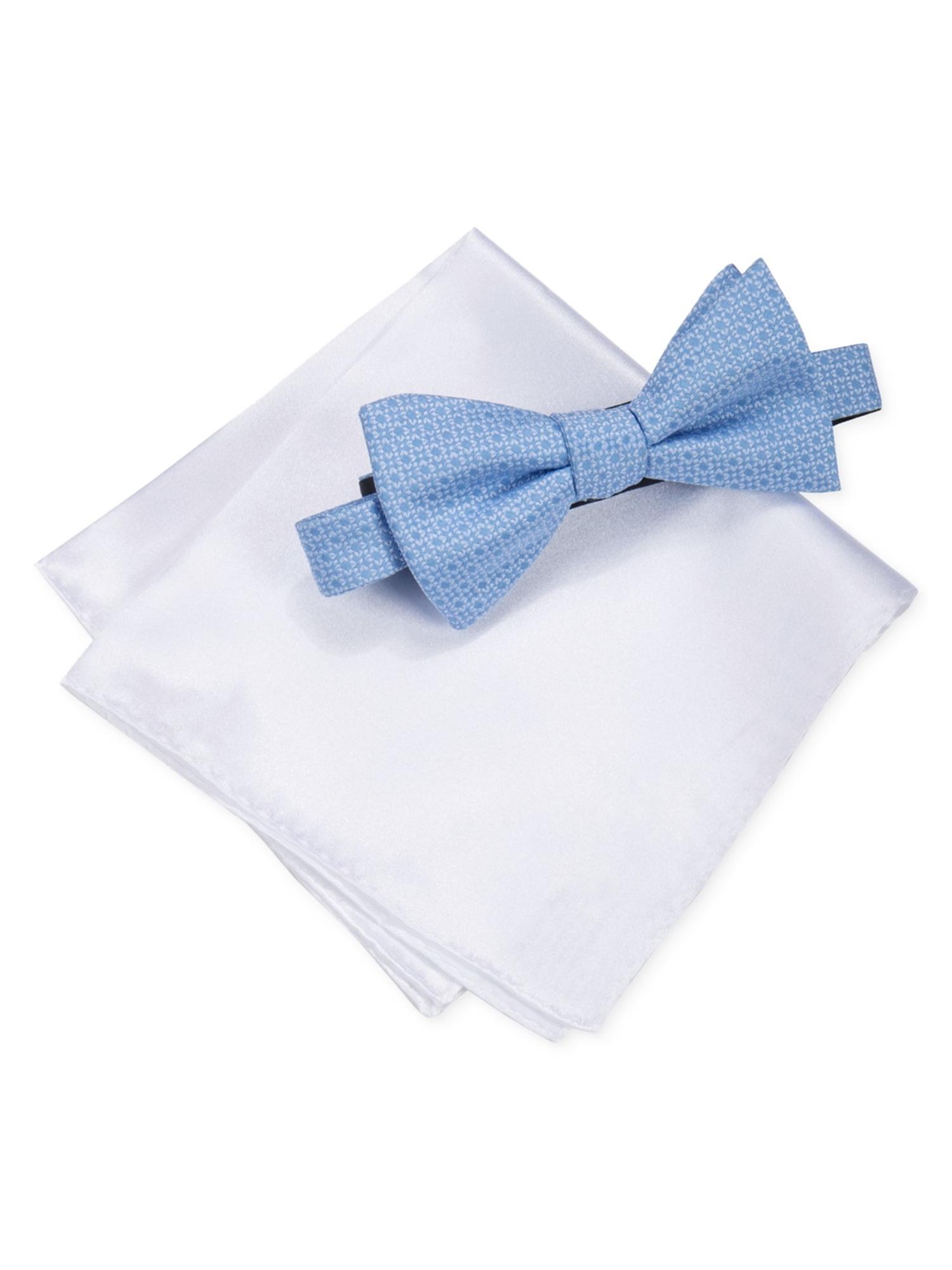 Alfani Mens Pocket Square Set Self-tied Bow Tie