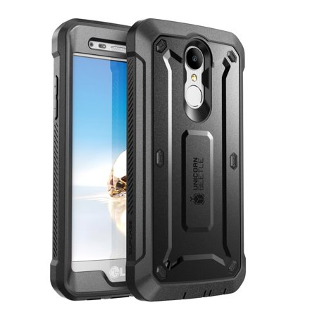 LG Aristo 2 Plus Case/LG Aristo 2 / Tribute Dynasty/Fortune 2/ Rebel 3 LTE, SUPCASE Unicorn Beetle Pro Case with Built-in Screen Protector for LG Aristo / K8 2017/ Phoenix 3/ Risio 2 (Black)