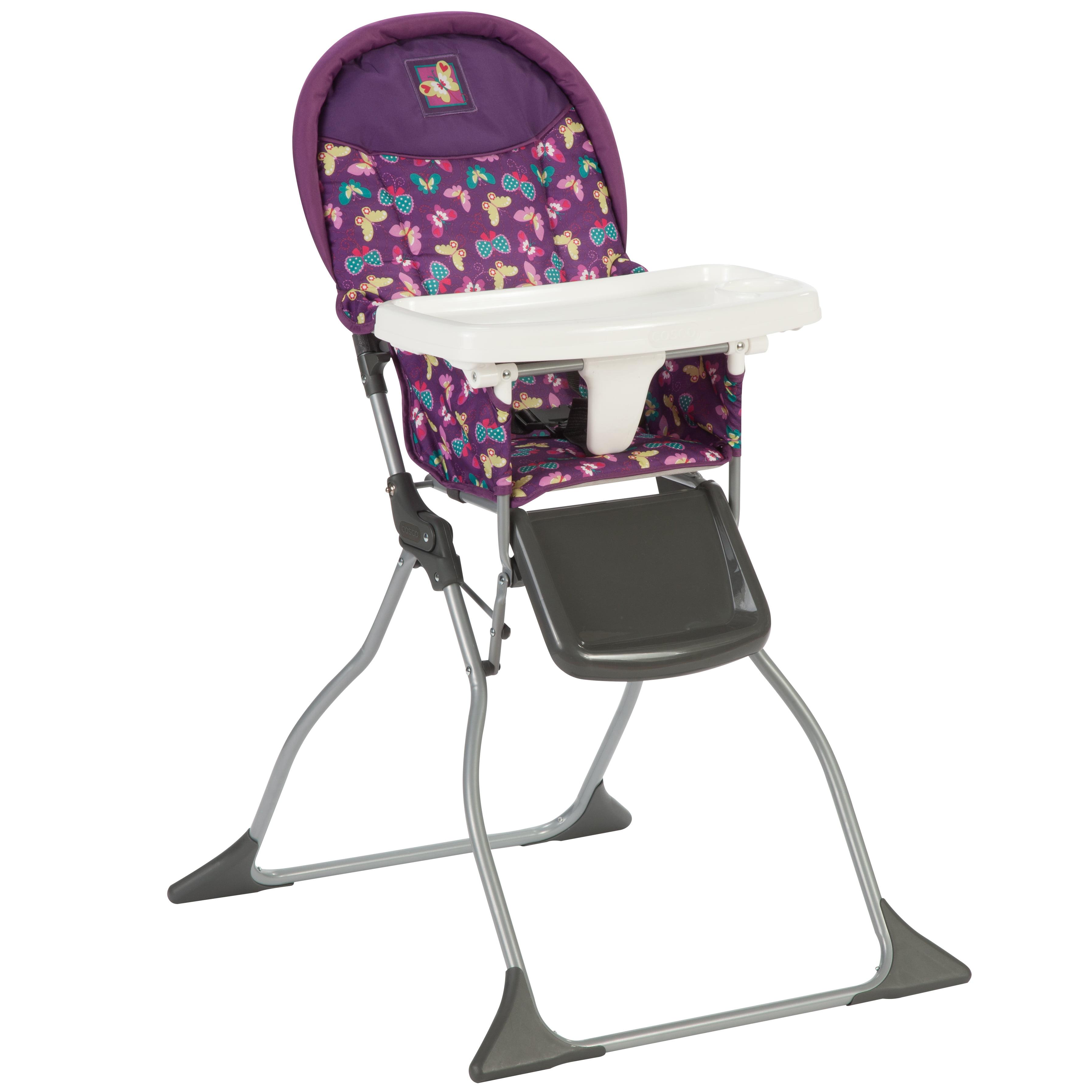 Cosco Simple Fold High Chair Butterfly Twirl Walmart