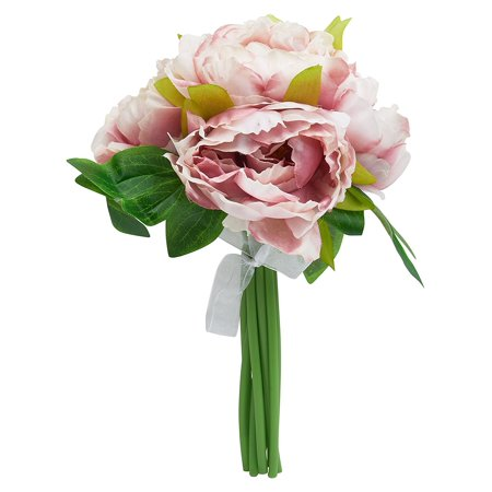 Artificial silk peony flower bouquet 10 14 inches 5 stems walmart artificial silk peony flower bouquet 10 14 inches 5 stems mightylinksfo