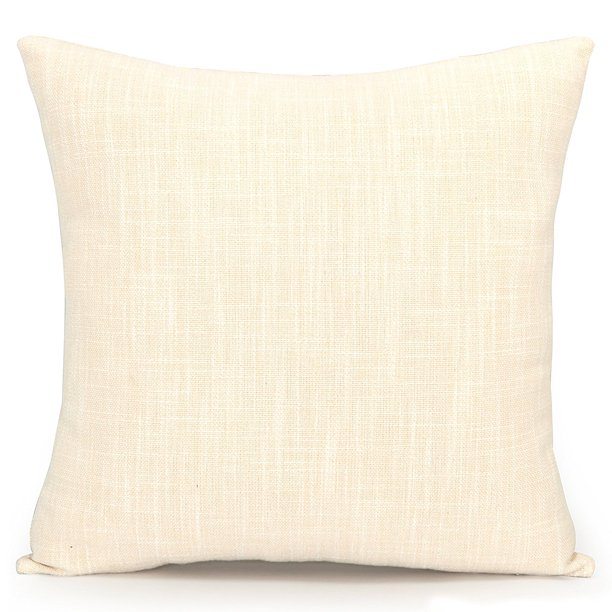 Acanva Decorative Accent Throw Pillow Cushion With Pillowcase Cover Sham Insert Filling 24 Large Solid Ivory White Walmart Com Walmart Com