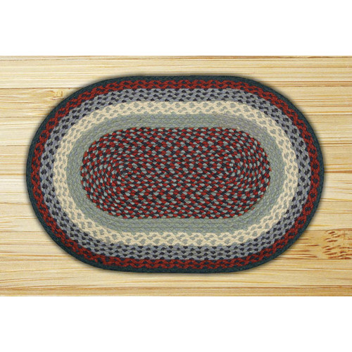 Earth Rugs Blue/Burgundy Braided Area Rug