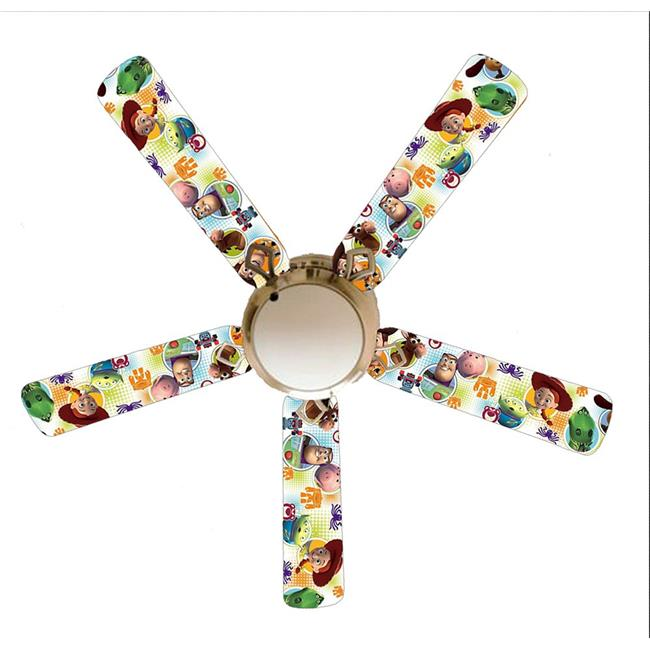 888 Cool Fans F52-0001122 52 in. Toy Story Woody & Buzz Infinity 5-Blades White Ceiling Fan with Lamp