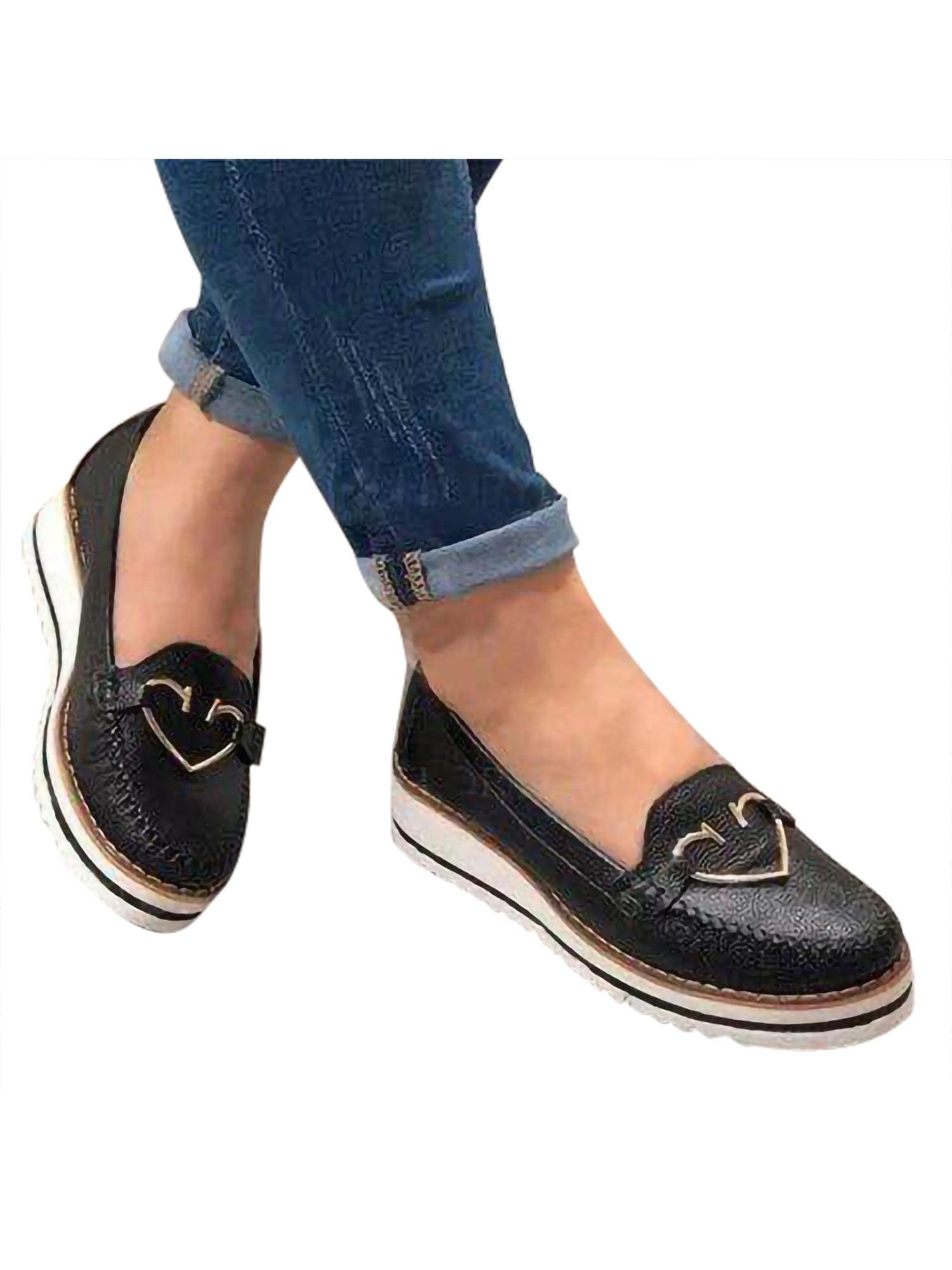 Loafers Flats Low heel platform