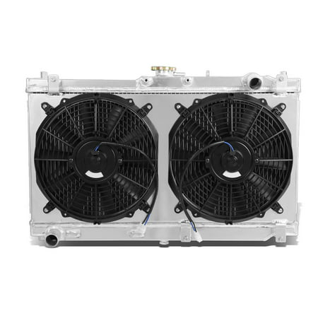 For 1998 to 2005 Mazda Miata MX -5 Dual Core 2 -Row Bolt -on Cooling Radiator W / Fan Shroud - 2nd gen -