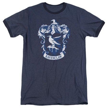 Adult Ringer - Harry Potter Ravenclaw Crest Adult Heather Ringer Shirt