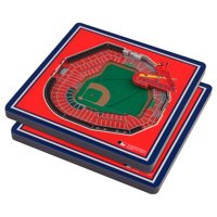 St. Louis Cardinals 3D StadiumViews Coasters - Red