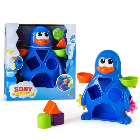 EduKid Toys BUSY PENGUIN BATH TOY - Penguin Bath Toy