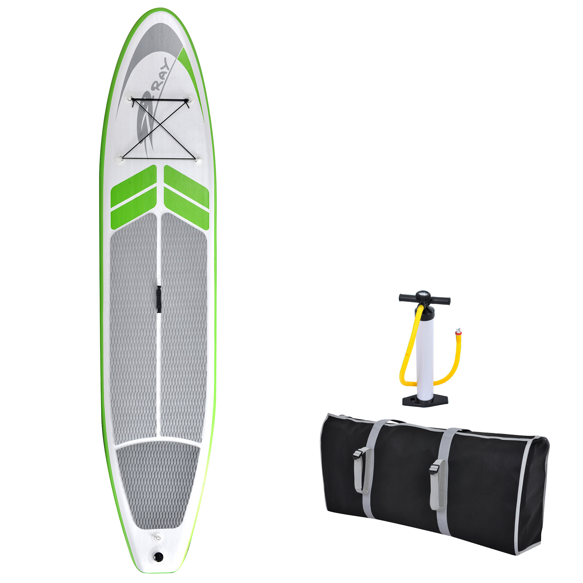 Blue Wave Sports Manta Ray 12-ft Inflatable Stand Up Paddleboard w/ Hand Pump
