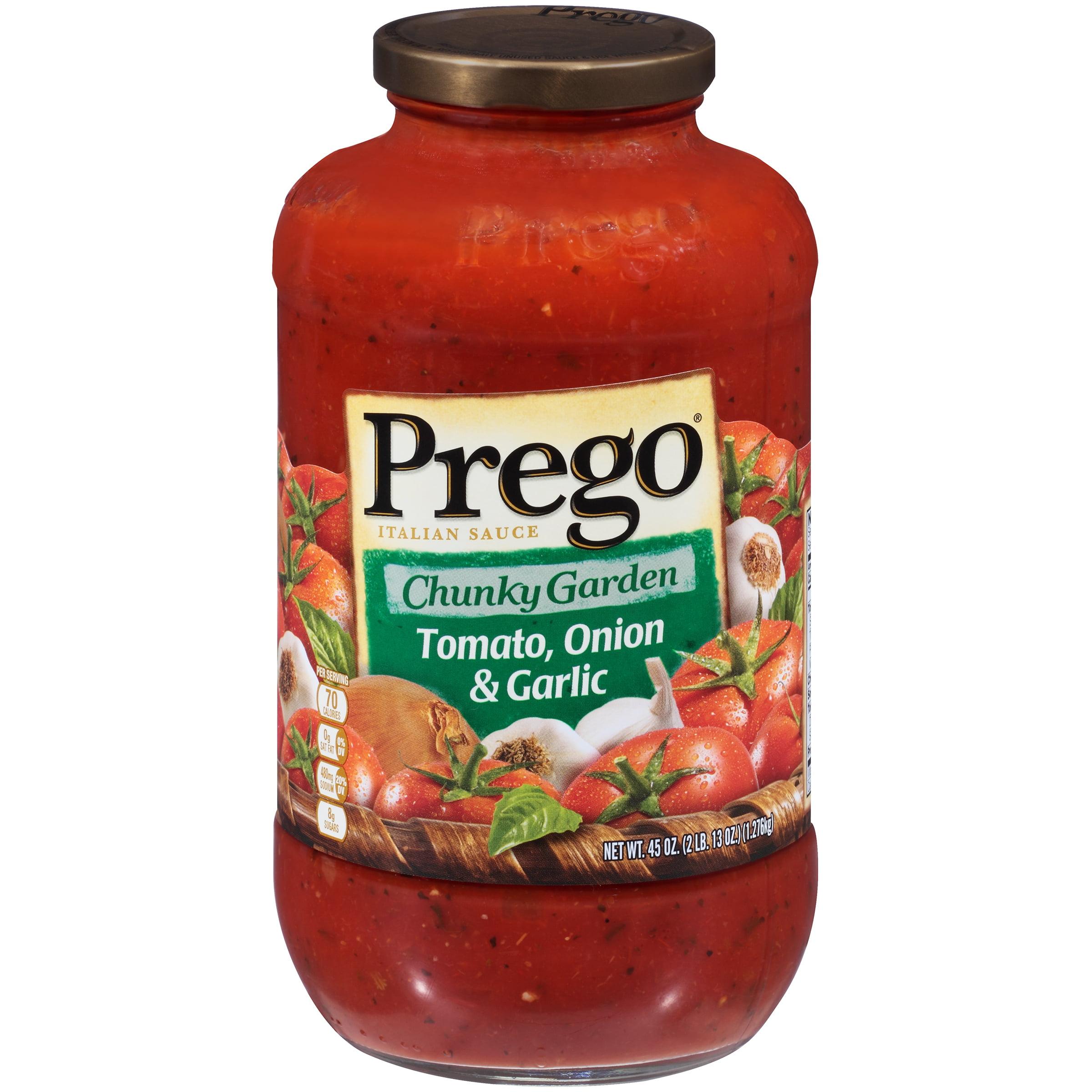 Prego Chunky Garden Tomato, Onion & Garlic Italian Sauce 45oz