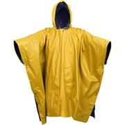 Navy Blue To Yellow - Reversible Wet Weather Rain Poncho - PVC