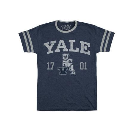 Tee Luv Yale Varsity T-Shirt - Licensed Yale Bulldog Shirt (Varsity Check)