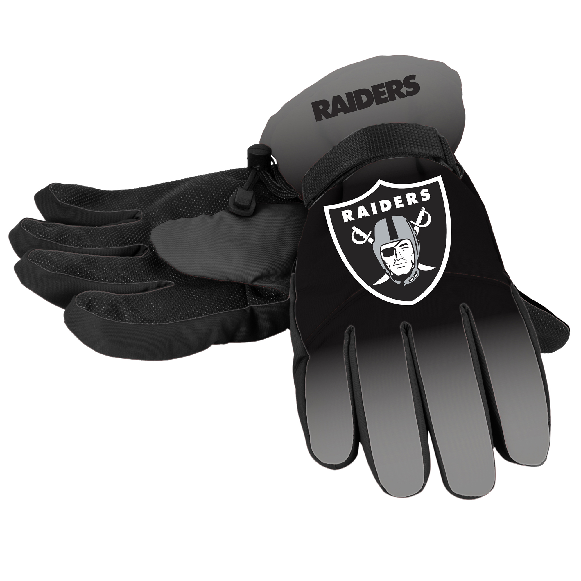 Forever Collectibles - NFL Gradient Big Logo Insulated Gloves-Small/Medium, Oakland Raiders