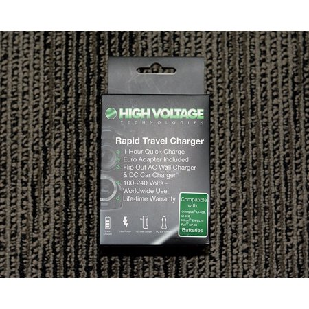 (High Voltage Tech. Rapid Travel Charger #HV_CH_906 for a (Olympus Li_40, Li_42, Nikon EN_EL10, Fuji NP_45 Batteries) AC100_240Vo)