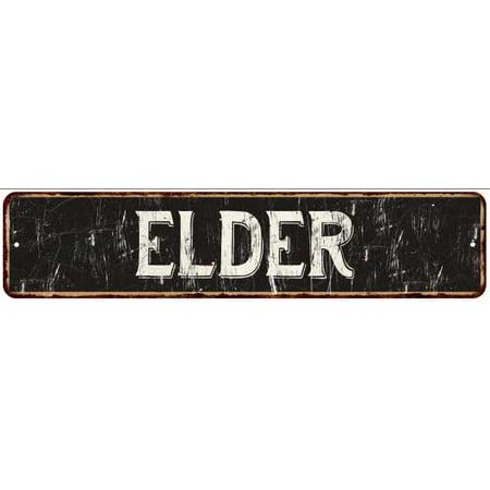 ELDER Street Sign Rustic Chic Sign Home man cave Decor Gift Black M41803273