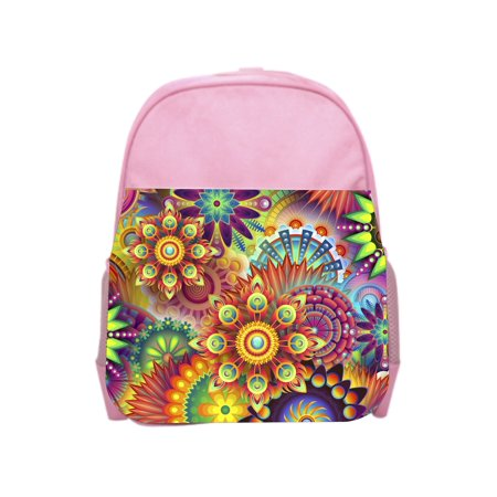 Flower Smash Pink Girls Preschool Toddler Backpack & Lunch Box Set