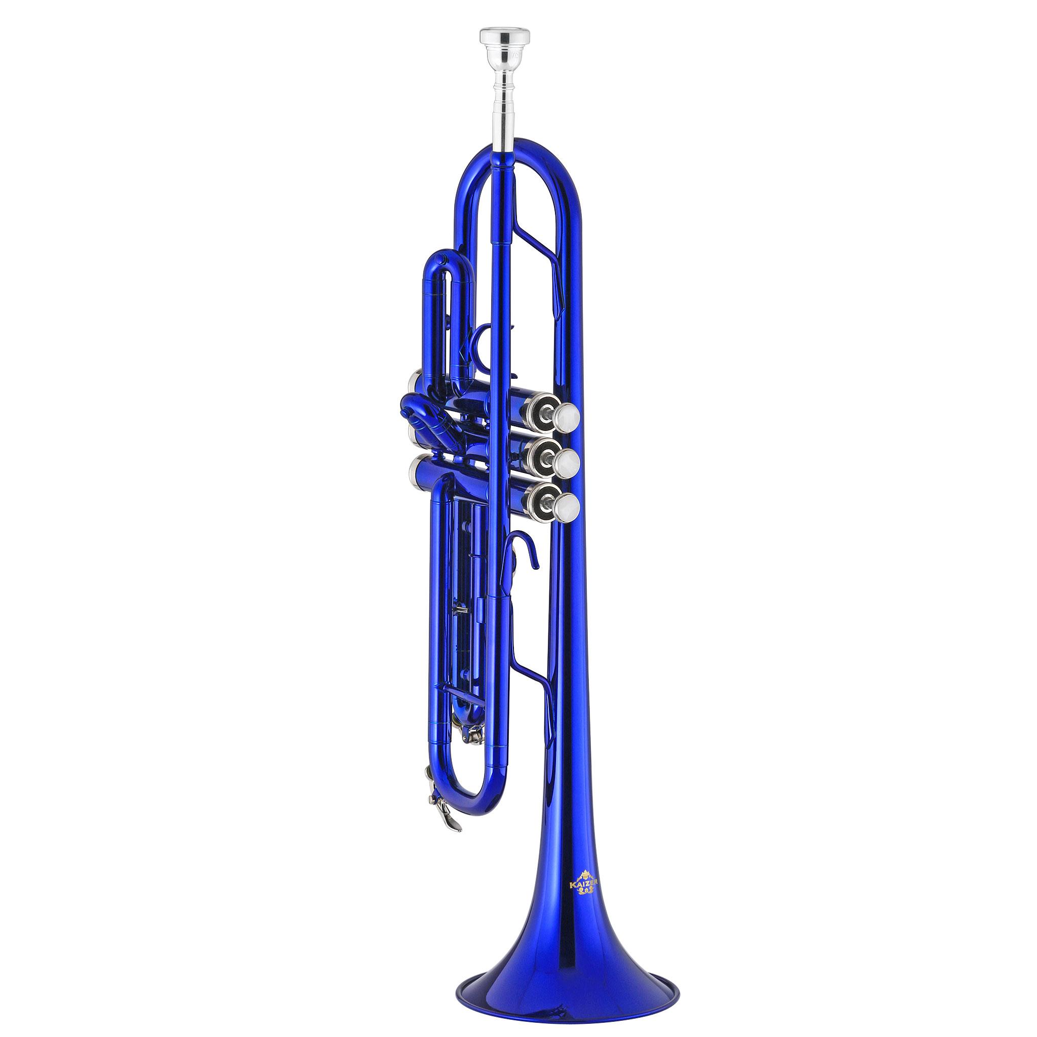Kaizer Trumpet Bb B Flat Blue TRP-1000BL - Walmart com