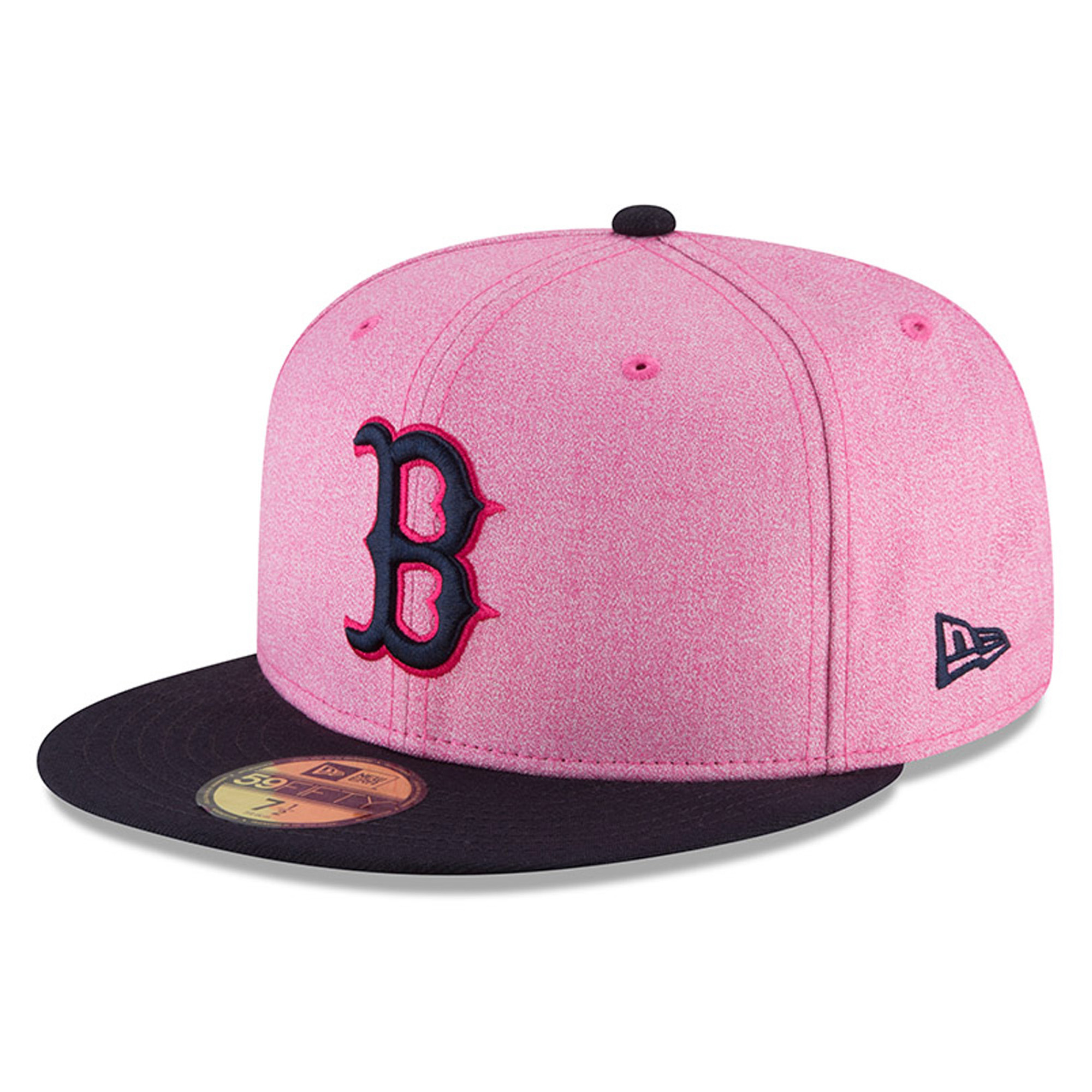 Boston Red Sox New Era 2018 Mother's Day On-Field 59FIFTY Fitted Hat - Pink/Navy