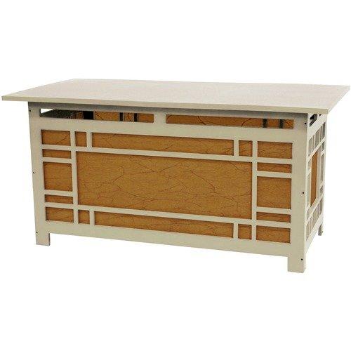 Oriental Furniture Hokkaido Geometric Design Coffee Table Lamp