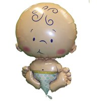"XL 24"" Newborn Baby Mylar Foil Balloon Welcome Boy Girl Shower Decoration"