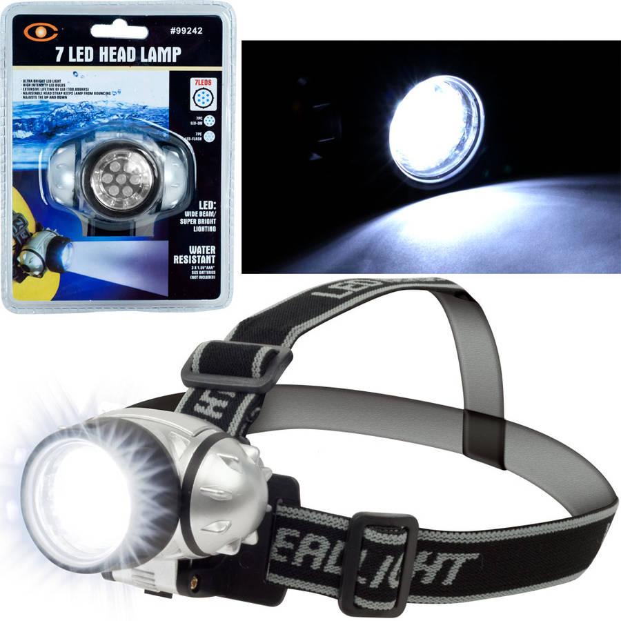 Super Bright 7-LED Headlamp with Adjustable Strap