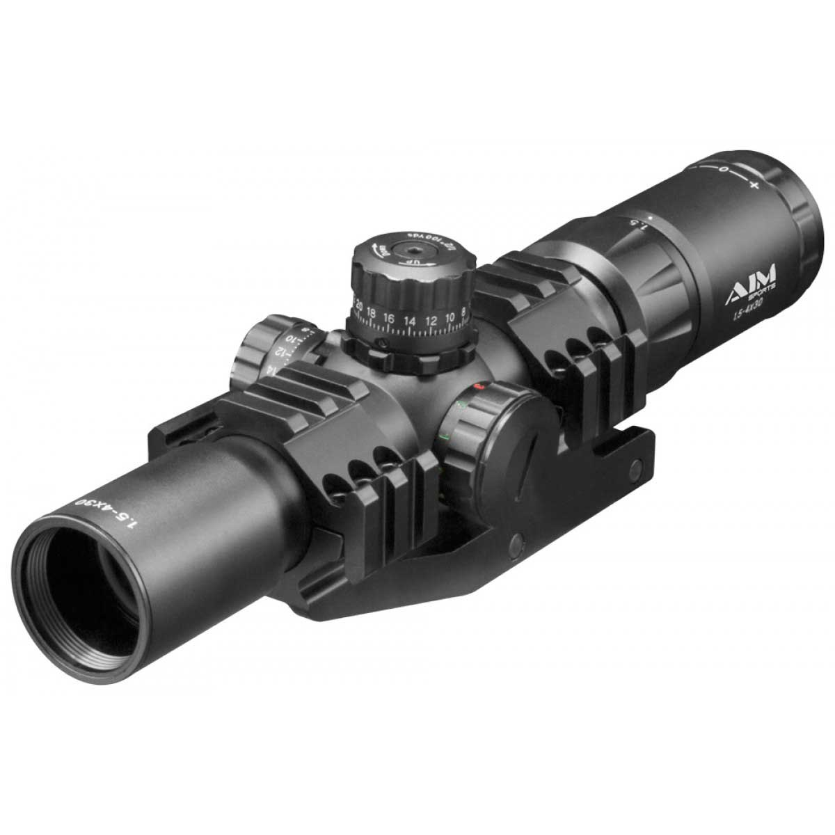 Aim Sports Recon Series 1.5-4X30MM Riflescope with Arrow Reticle