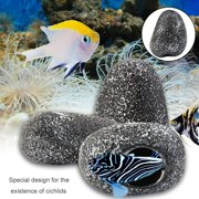 Creative Home Fish Tank Pond Decorative Cichlid Stone Cave Shrimp Breeding Tank Ornament Decoration Accessory