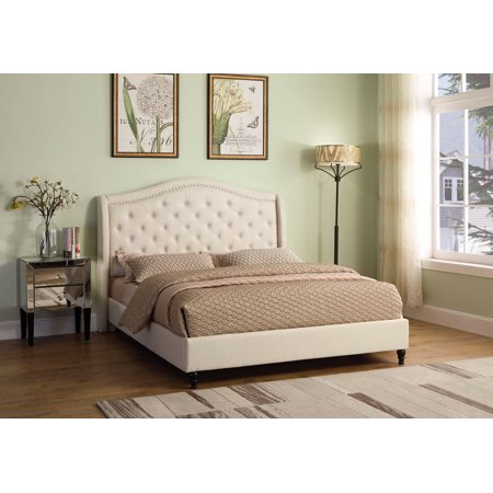 Best Master Furniture Sophie Eastern King Tufted Upholstered Panel/Platform Bed,