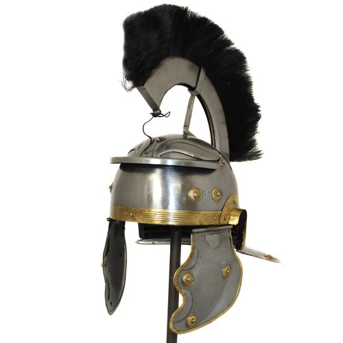 EC World Imports Antique Replica Roman Centurion Black Plume Galea Helmet by ecWorld Enterprises