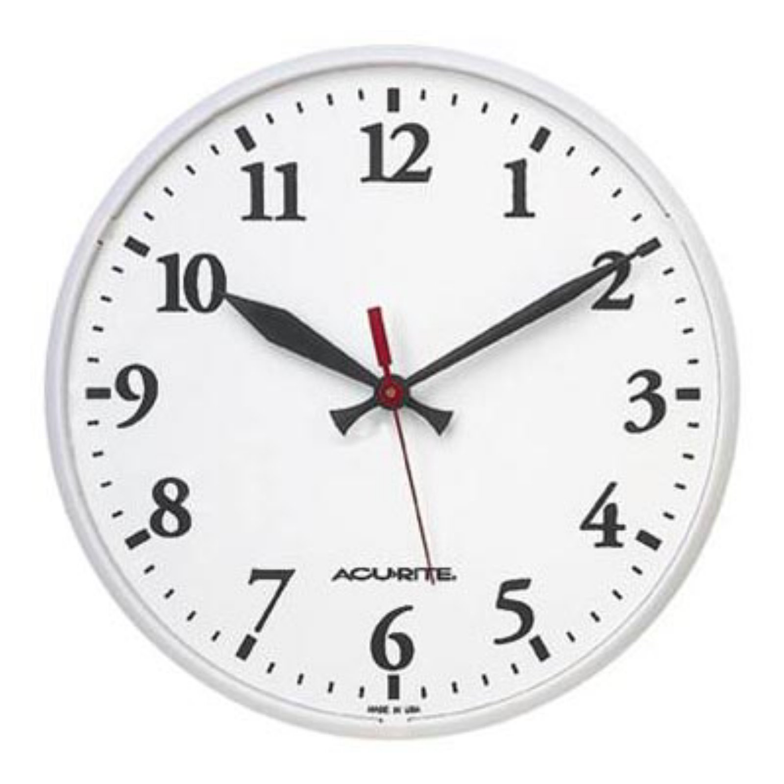 Acu-Rite 12.5 in. Indoor/Outdoor Wall Clock