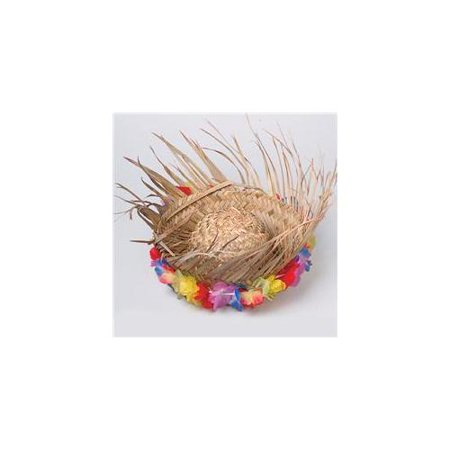 US Toy -Natural Beachcomber Hat With Lei, 1 Per Package - Beachcomber Hat