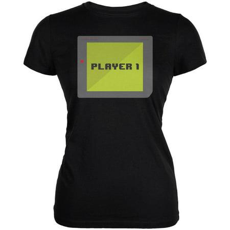 Halloween Old School Gamer Player 1 Juniors Soft T Shirt