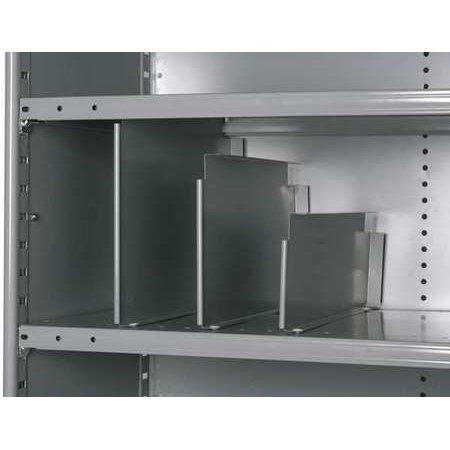 Vertical Shelf Divider, 20 ga., Gray, PK12 HALLOWELL ()