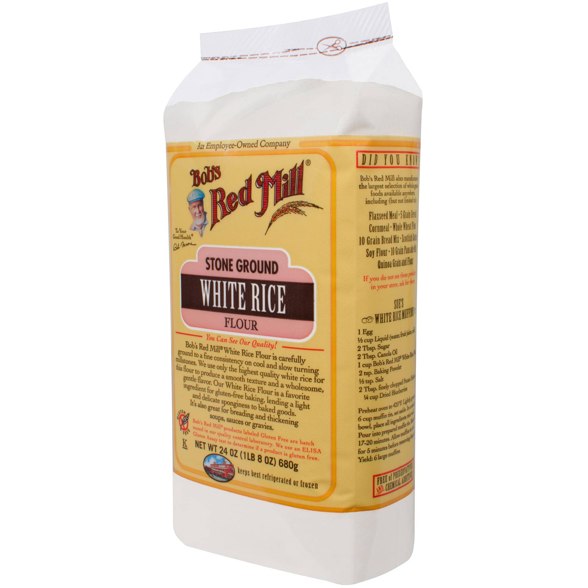 Bob's Red Mill Flour White Rice, 24 oz (Pack of 4)
