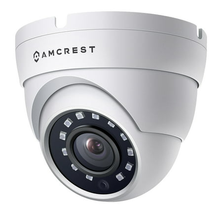 Amcrest Full HD 1080P 1920TVL Dome Outdoor Security Camera (Quadbrid 4-in1 HD-CVI/TVI/AHD/Analog), 2MP 1920x1080, 98ft Night Vision, Metal Housing, 3.6mm Lens 90° Viewing Angle, White